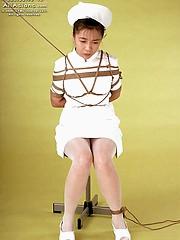 Asian slut tied up and fucked raw