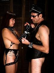 Asian whore enjoys white cock and fun bondage session