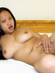 Loni strips and reveals her tight pussy