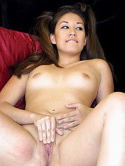 Cris likes sucking hard on huge dildo