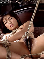 Naughty slut gets tied up and stripped naked