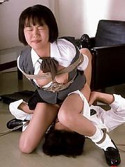 Innocent bound asian get fucked