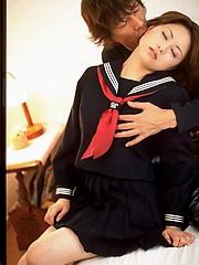 Horny schoolgirl gets fucked