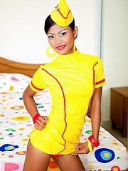 Super X stewardess Tussinee strips and does a nude split